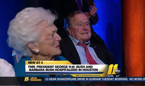 Hospitalized George H. W. Bush Keeps It Classy, Writes Trump [VIDEO]