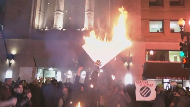 #Inauguration Protests: Violence At #DeploraBall, Celebrities, And Children Setting Fires??!! [VIDEO]