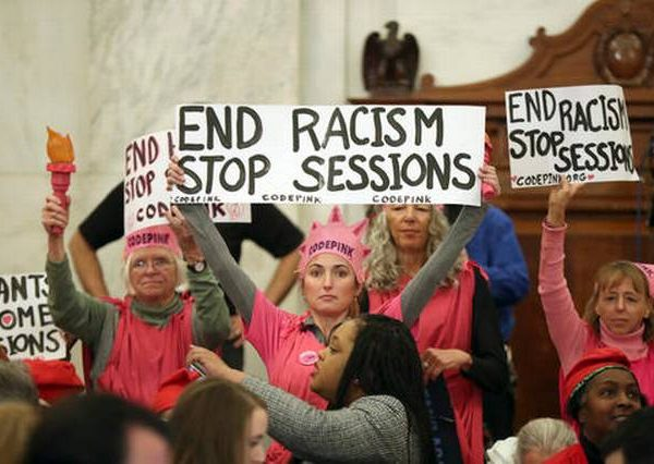 "Code Pink, KKK, And MTV Clowns Display Their ""Class"" At Sessions Confirmation Hearing [VIDEOS]"