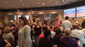Democrat Activists Protest Prayer at Town Hall Meeting [VIDEO]