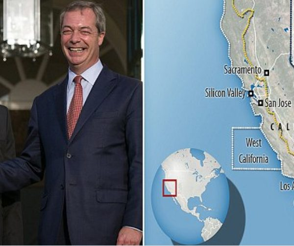 Brexit's Nigel Farage Hired by Republican Strategists to Help Split California in Two