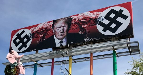 Artist Creates Nuclear Trump Billboard then Gripes About Backlash [VIDEO]