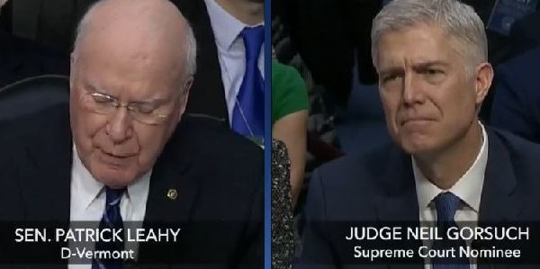 #GorsuchHearing: Senator Leahy Schooled By Gorsuch On Muslim Travel Ban [VIDEO]
