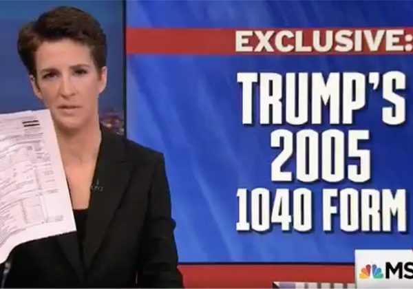 "A Big Nothingburger: Rachel Maddow ""Bombshell"" Reveals Trump Tax Payments"