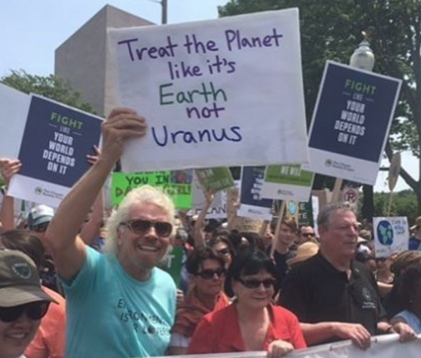 Hypocrisy on Earth: Richard, Al and Leo at #ClimateMarch