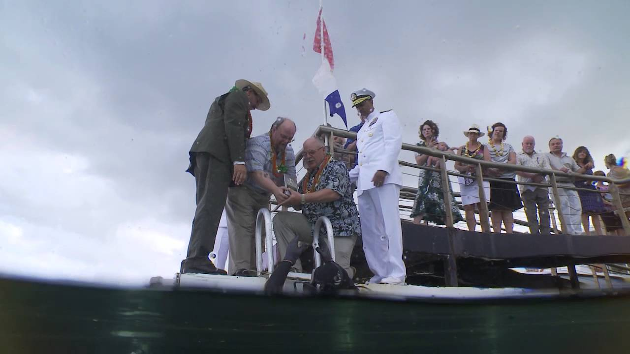 USS Arizona Survivor Interred Aboard Ship [VIDEO]