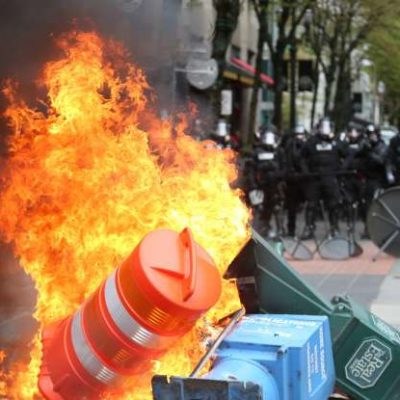 Media Defines Violent #MayDay2017 And #MayDayPDX Protests As