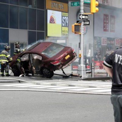 Times Square Horror As Car Strikes Pedestrians