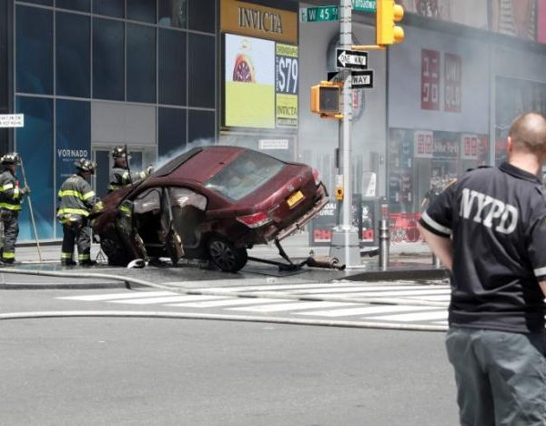 Times Square Horror As Car Strikes Pedestrians