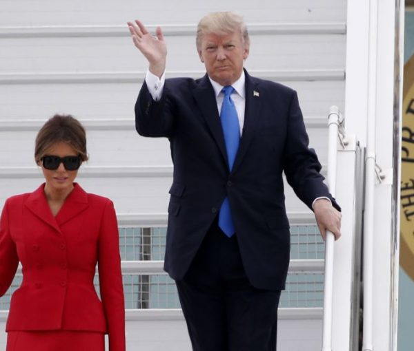 Donald and Melania Trump in Paris for Bastille Day