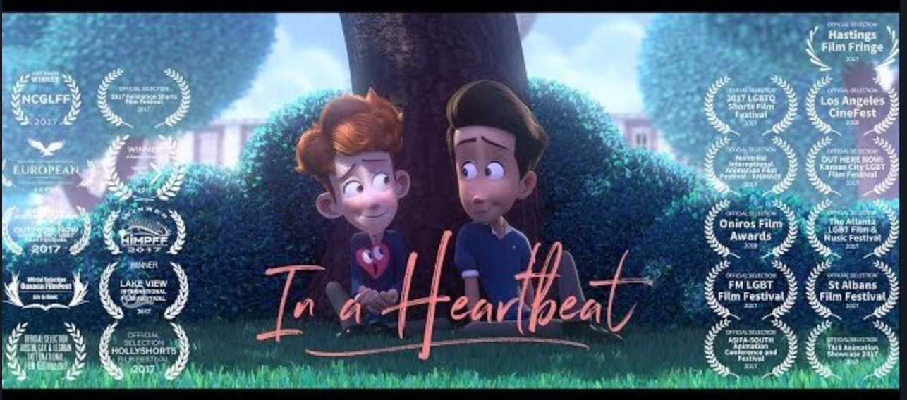 "Overrated? ""In a Heartbeat"" Animated Short about Gay Crush [VIDEO]"
