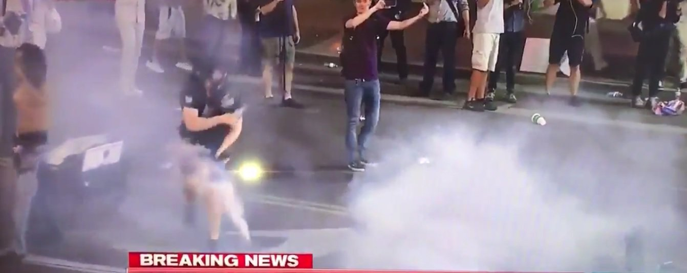 Oh, Nuts! Police Shoot Antifa Protester in Crotch with Nonlethal Round [VIDEO]