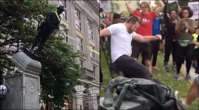 THUGS In North Carolina Destroy Confederate Statue In Useless Attempt To Erase History [VIDEO]