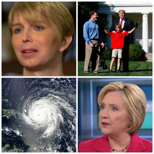 Lawnmower Frank, Chelsea Manning, Irma and Hillary