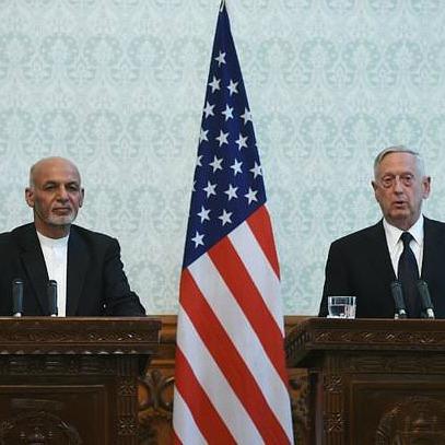 Secretary Mattis in Afghanistan Amidst Bombing