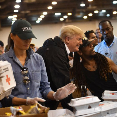 President and Melania Trump Change Hearts and Minds in Houston. [VIDEO]