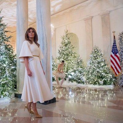 Melania Trump Unveils A Timelessly Classic White House Christmas [VIDEO]