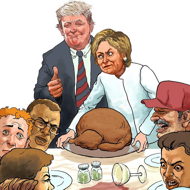 "Fools on The Left of Us, Jokers on the Right: Salon Offers Up Turkey Day ""Talking Tips"""