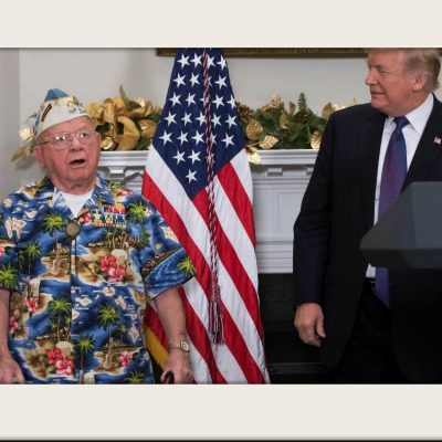 "Veteran Sings ""Remember Pearl Harbor"" for President Trump"