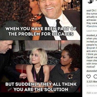 Seal to Oprah: you are part of the problem