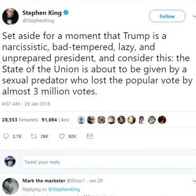 Author Stephen King Hates On Donald Trump