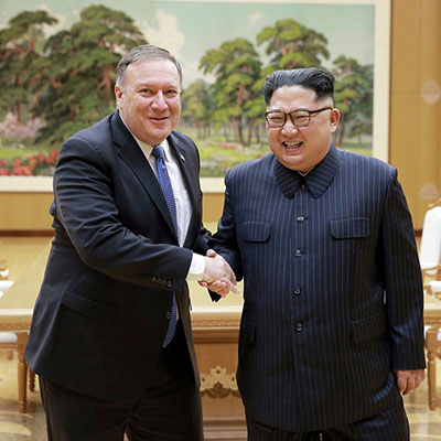 Kim Jong-un Receives Secretary Of State Mike Pompeo At Pyongyang [VIDEO]