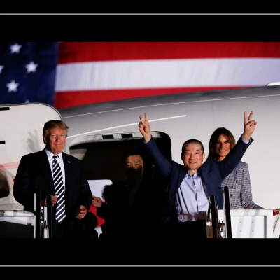 Trump Greets Freed North Korean Hostages