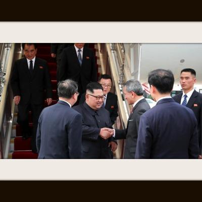 Kim Arrives in Singapore, Trump Not Far Behind