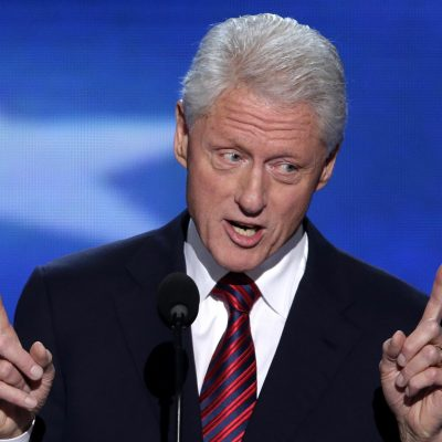 "We Dare You Not to Laugh: Bill Clinton Says He Doesn't Like To ""Embarrass People""."