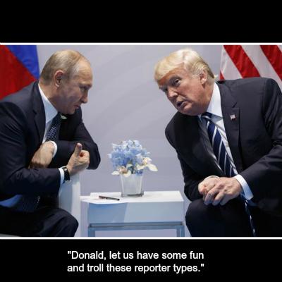 Reporters at Trump Putin Helsinki Presser Act Like Fools