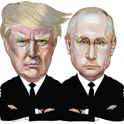 Trump Putin Presser Reactions Go Full Hair on Fire