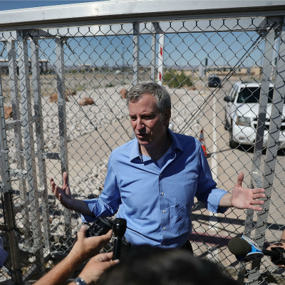 NYC Mayor DeBlasio Crosses Southern Border Illegally