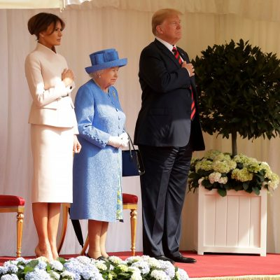 Queen Elizabeth Meets President And Mrs Trump For Tea At Windsor Castle [VIDEO]