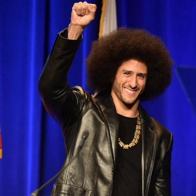 Kaepernick raised fist