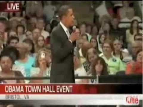 Barack Obama without his teleprompter