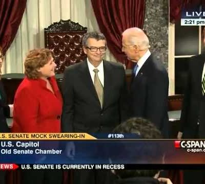 "D'oh!   Vice President Joe Biden to Senator Heidi Heitkamp:  ""Spread Your Legs, You're Gonna Be Frisked!"""