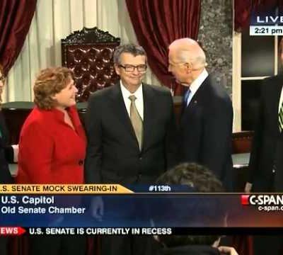 "D'oh!   Vice President Joe Biden to Senator Heidi Heitkamp:  ""Spread Your Legs, You're Gonna Be Frisked!"""