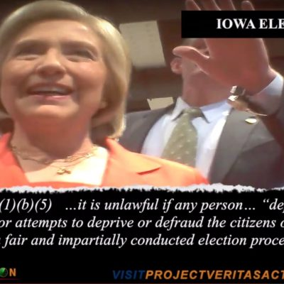 James O'Keefe Shows Hillary Iowa Campaign Skirting Law [VIDEO]