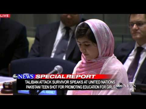Malala Yousafzai, teen girl shot by Taliban, speaks at the UN and Weekend Links!