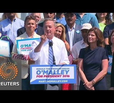 Martin O'Malley Enters Race for Democratic Nomination As Backup Plan