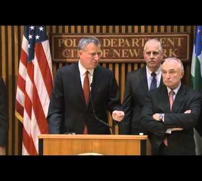 #NYPD: Mayor de Blasio Blames Media for Racial Division (VIDEO)