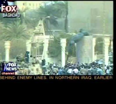 Saddam Came Tumbling Down