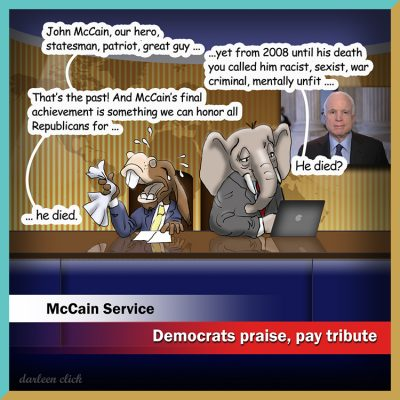 John McCain receives praise from Democrats