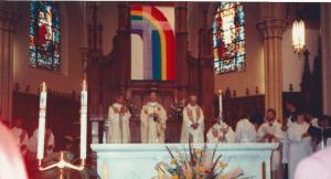 Catholic priest burned LGBT flag