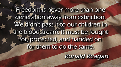 Sacred Obligation - Ronald Reagan quote
