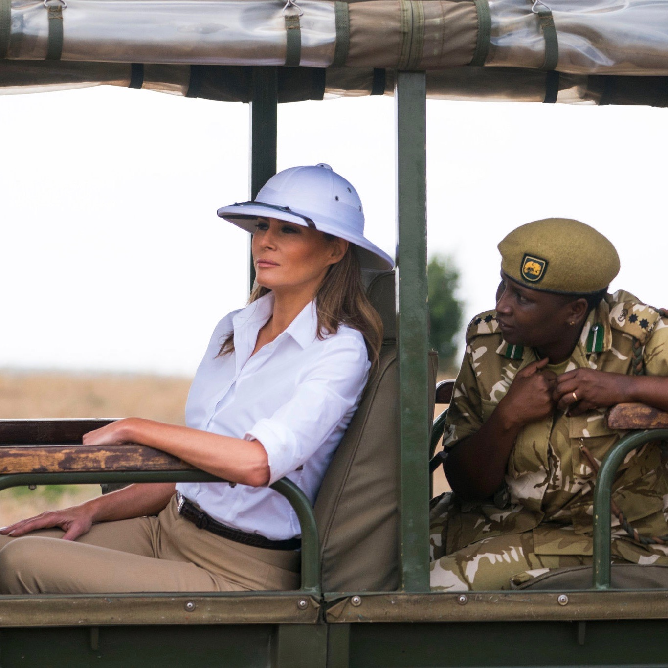 Melania Trump's Style Evokes 'Out Of Africa' And Draws Snide Criticism