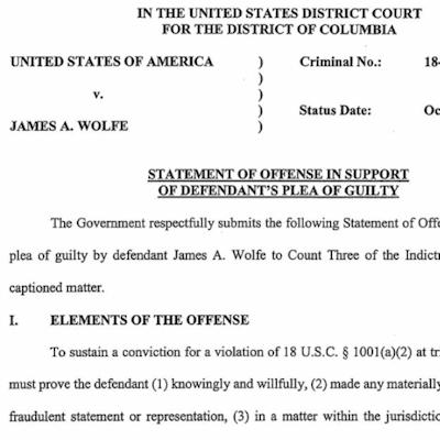 NYT Leaker Wolfe Pleads Guilty