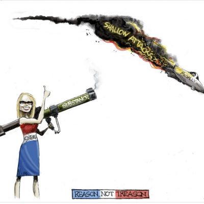 Kyrsten Sinema Cartoon Shooting Down Fighter Pilot McSally Backfires