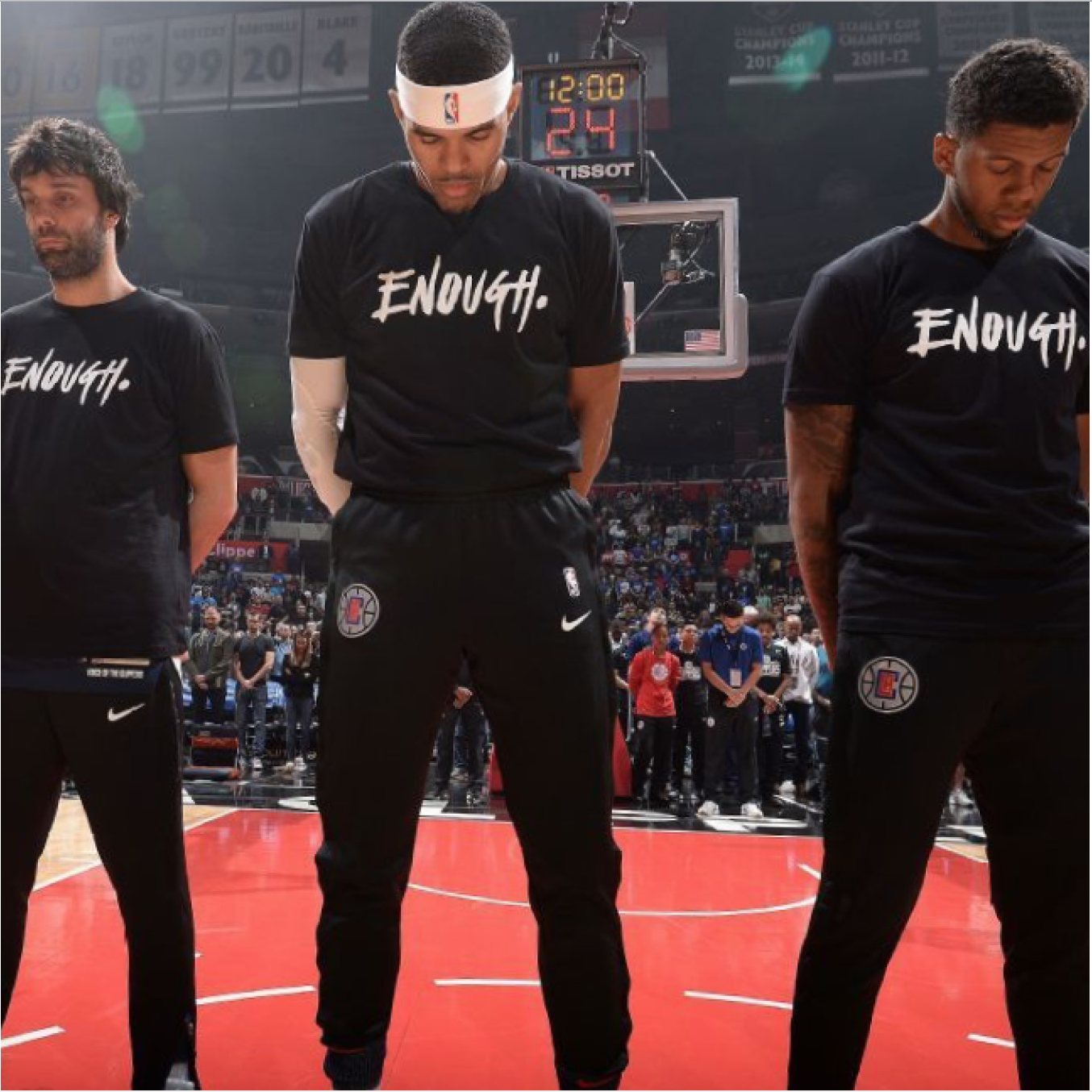 "NBA Players Wear ""ENOUGH"" T-Shirts During Warm-up"