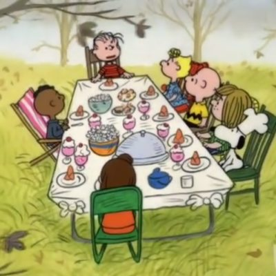 Charlie Brown's Thanksgiving Table Is Not Racist